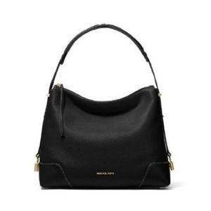 Michael Kors Black Large Crosby Pebbled Bag